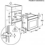 Духовой электрический шкаф ELECTROLUX EOA45551OW