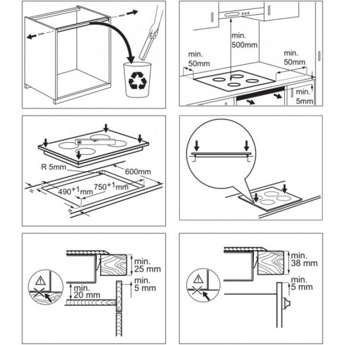 варочная поверхность электролюкс инструкция по установке
