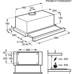 Телескопическая вытяжка ELECTROLUX EFP60436OX