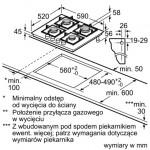 Газовая варочная поверхность BOSCH PPP6A6B90